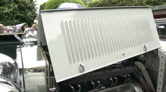 Engine of old classic Isotta Fraschini at Concorso d'Eleganza at Villa d'Este Stock Footage