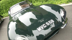 Old vintage Jaguar at the Concorso d'Eleganza at Villa d'Este, Cernobbio, Italy Stock Footage