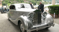 Old classic Rolls-Royce at the Concorso d'Eleganza at Villa d'Este, Cernobbio Stock Footage