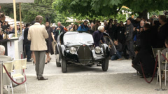 Ralph Lauren attending the Concorso d'Eleganza at Villa d'Este with his Bugatti Stock Footage
