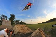 Bmx 360 hyppy Kuvituskuvat