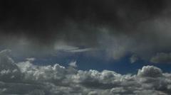 Dark Wispy Storm Cloud Time Lapse - stock footage