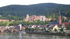 Heidelberg, Germany and the Necker River Stock Footage