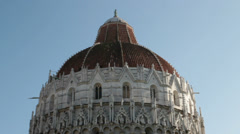 baptistery dome in Pisa, Italy - stock footage