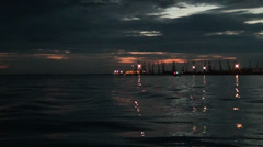 Stock Video Footage of Sea of Azov in evening time
