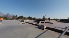 High Jump with Skateboard Stock Footage