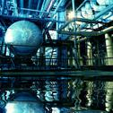 Stock Photo of Pipes, tubes, machinery and steam turbine at a power plant