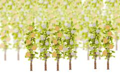 money growing on tree - stock illustration