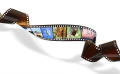 Stock Photo of twisted film for photo or video recording