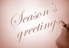 callligraphy season's greetings - stock photo