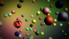 Stock After Effects of Colorful Spheres Project