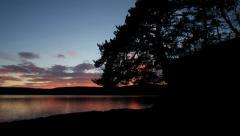 Beautiful sunset dusk timelapse at lake 4K Stock Footage