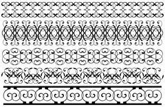 Decoration borders set - stock illustration
