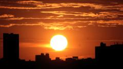 Sunrise timelapse - city view - Beautiful scene - stock footage