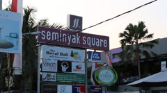 Center of seminyak square tilt shot Stock Footage