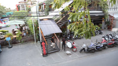 A birds eye view of Seminyak square Stock Footage