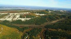 Aerial View: Biyuk-Ashlama-Dere Valley, near Bakhchisaray. Crimea. Autumn 2013 Stock Footage