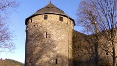 Tour of the castle of the Dukes of Jülich (13th century). Stock Footage