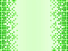 Green background with pixels Stock Illustration