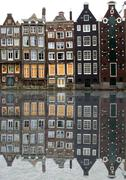 Amsterdam houses - stock photo