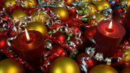 Stock Video Footage of Spin Around Festive Christmas Scene Close Up