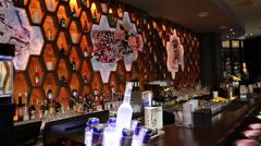 A chic bar lounge in Kuala Lumpur - stock footage