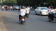 Motorbike driver violating traffic rules. Stock Footage