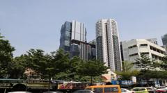 Pan in Kuala Lumpur town area Stock Footage