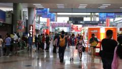 Pan inside KL Sentral Stock Footage
