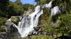 Mae Klang Waterfall of chiang mai, thailand (slow motion shot) Stock Footage