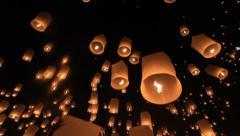 Lantern Traditional Festival - stock footage