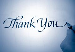 callligraphy thank you - stock photo