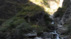 River rapids on lower Yantze river in Tiger leaping gorge in yunnan, china Stock Footage