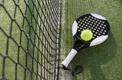 Paddle tennis objects Stock Photos