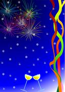 New Year's card - stock illustration