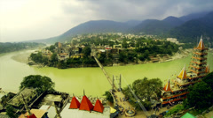 Holy Ganges in Rishikesh Stock Footage