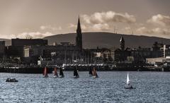 bray harbour - stock photo