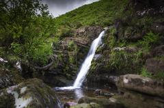 galtymore waterfall - stock photo