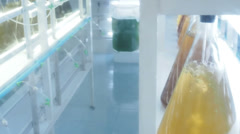 Panning view at laboratory lab Stock Footage