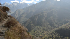 View over tiger leaping gorge in Yunnan, China Stock Footage