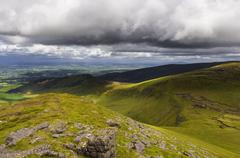 mountain view - galtymore - stock photo
