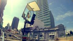 Kuala Lumpur LRT Sky Train - stock footage