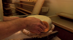 Stock Video Footage of Adding a plastic coating to a cheese