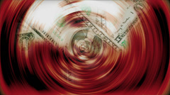 One dollar bills turning Stock Footage