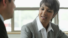Business people talking in office Stock Footage