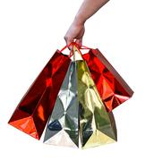 Handful of glossy shopping bags Stock Photos