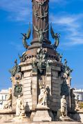 christopher columbus memorial, barcelona, spain - stock photo