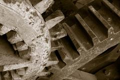 Old industrial cogs Stock Photos