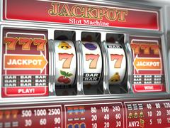 jackpot on slot machine. - stock illustration