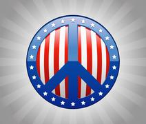 Peace Sign America Symbol Illustration Stock Illustration